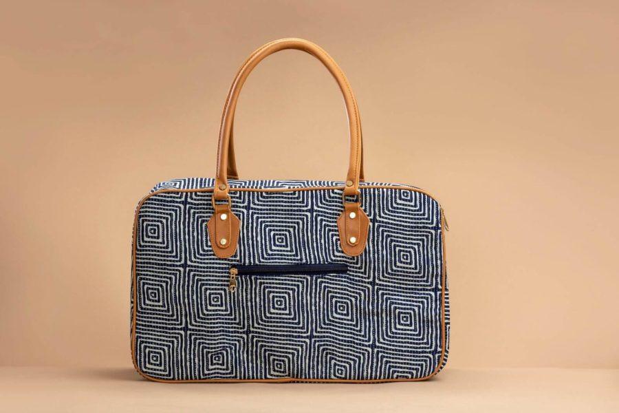 Indigo Square Travel Bag-2