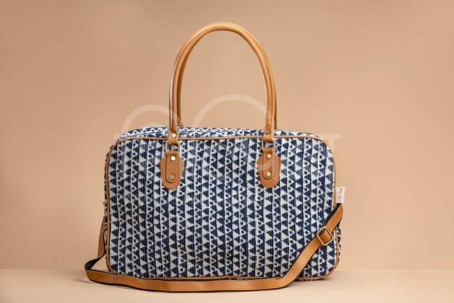 Indigo Aztec Triangle Travel Bag