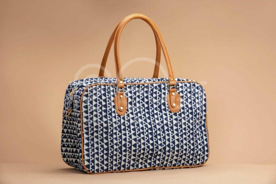 Indigo Aztec Triangle Travel Bag 1