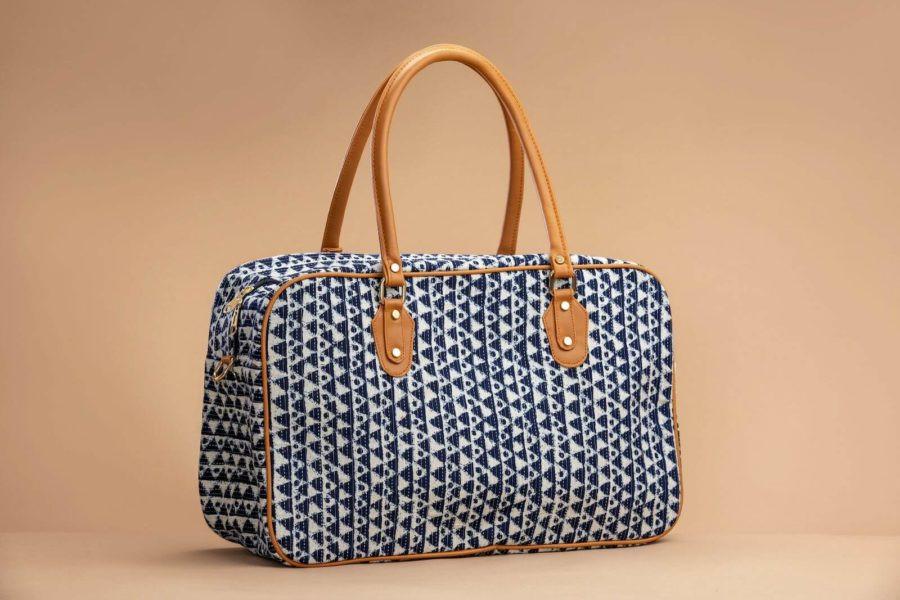 Indigo Aztec Triangle Travel Bag-1