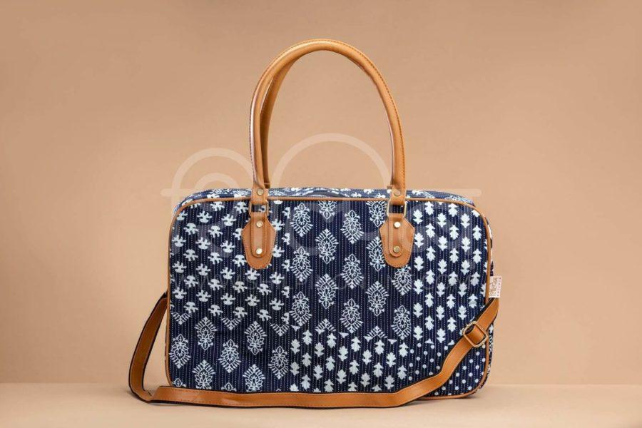 Indigo Collage Travel Bag