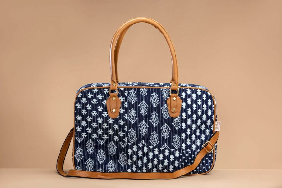 Indigo Collage Travel Bag