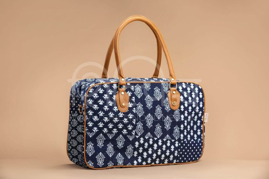 Indigo Collage Travel Bag 1