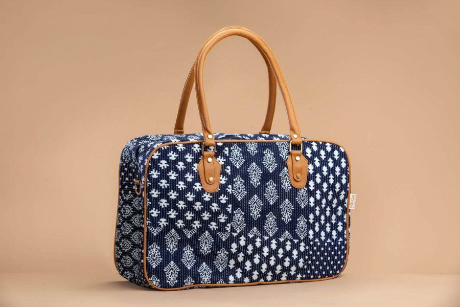 Indigo Collage Travel Bag-1