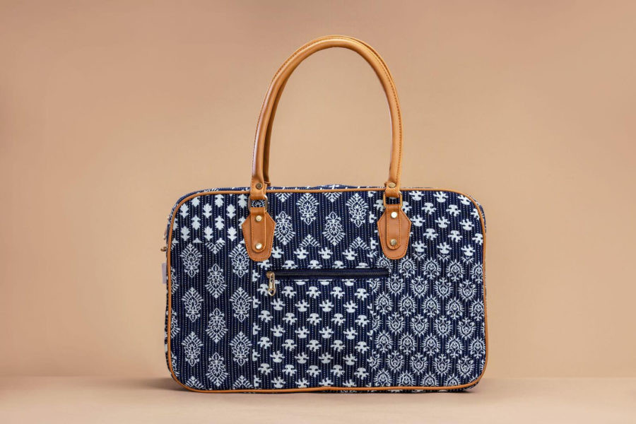 Indigo Collage Travel Bag-2