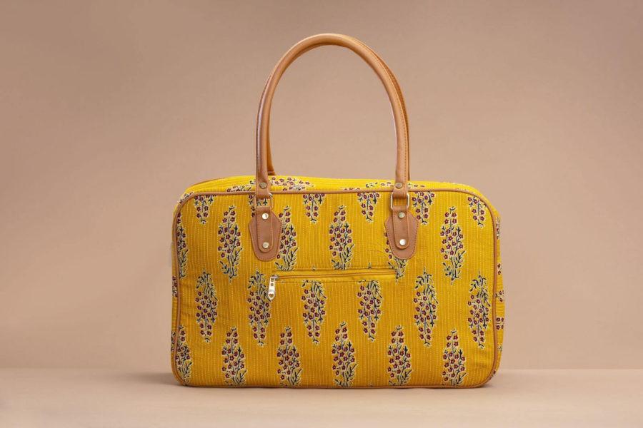 MustRed Fern Block Travel Bag-2