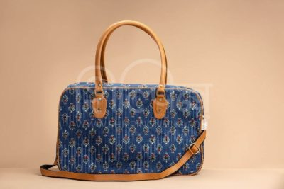 Blue Tribal Motif Travel Bag