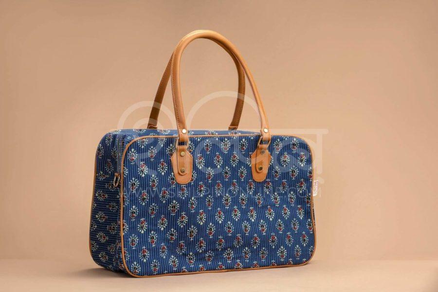 Blue Tribal Motif Travel Bag 1