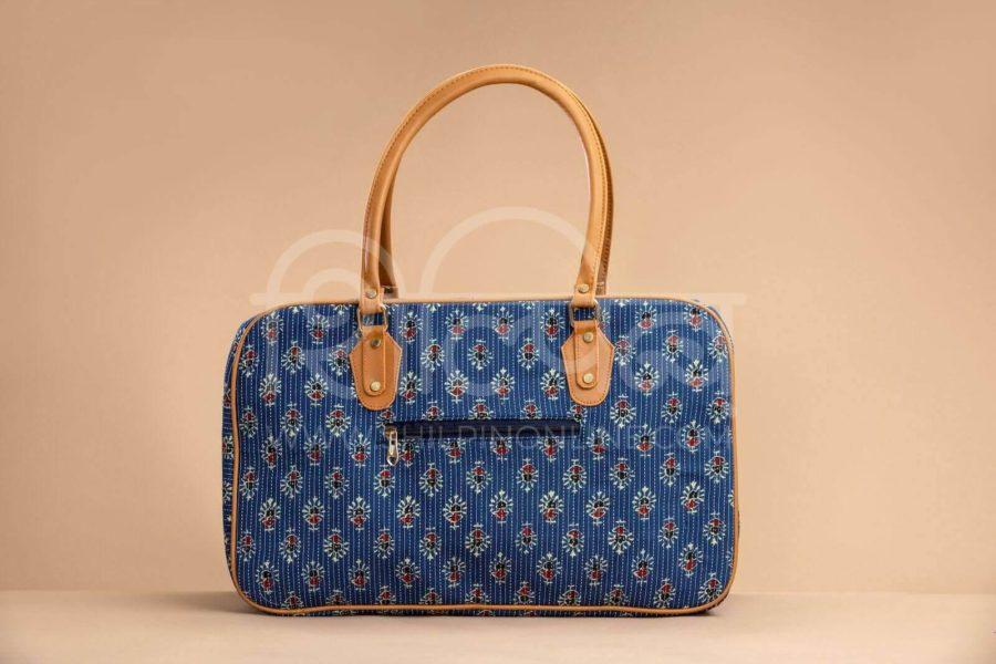 Blue Tribal Motif Travel Bag-2