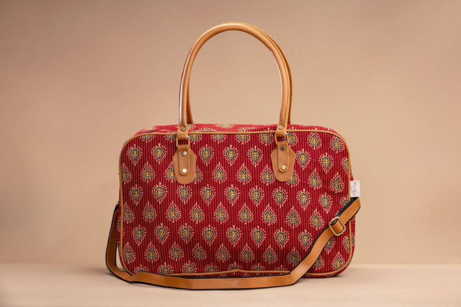 Red Spade Travel Bag