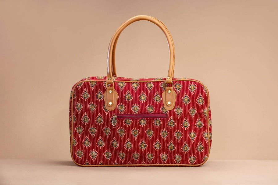 Red Spade Travel Bag-2