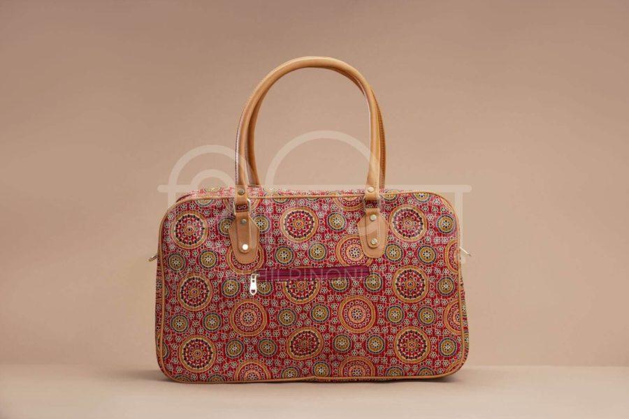 Red Mandala Motif Travel Bag 2