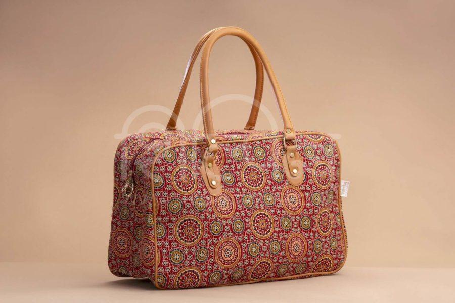 Red Mandala Motif Travel Bag 1