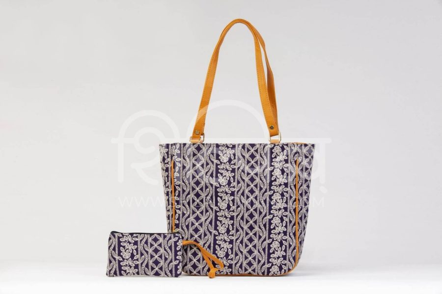 Lucknowi Stich Navy Carryall Bag