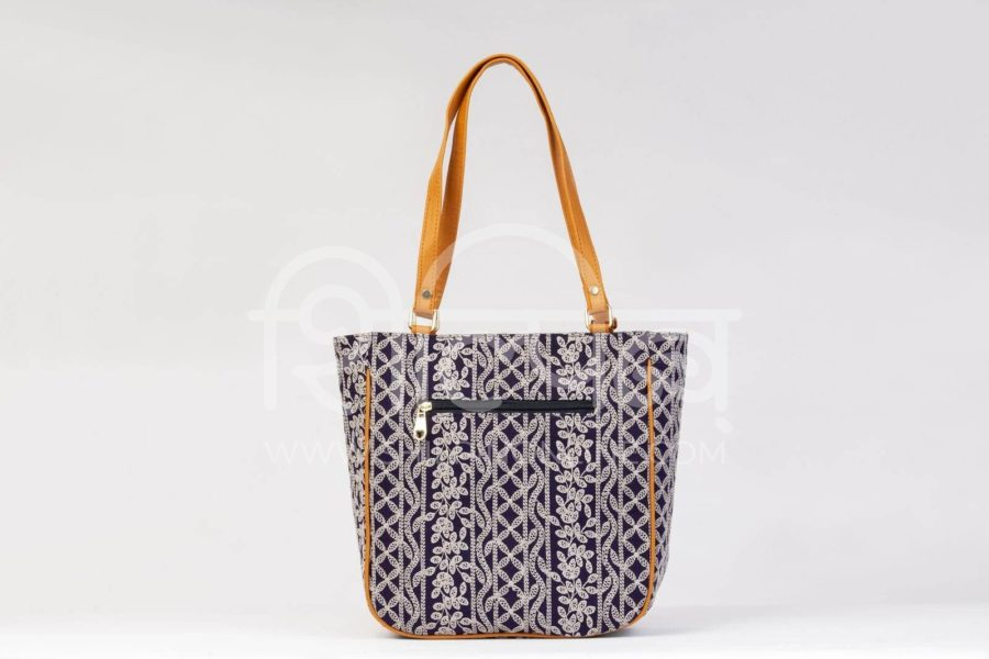 Lucknowi Stich Navy Carryall Bag4