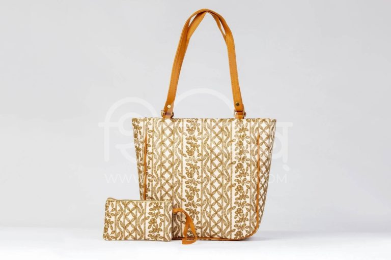Lucknowi Stich Coral Carryall Bag