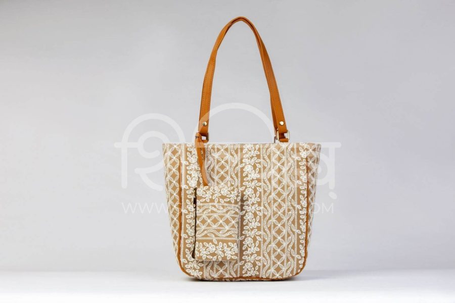 Lucknowi Stich Sepia Carryall Bag3