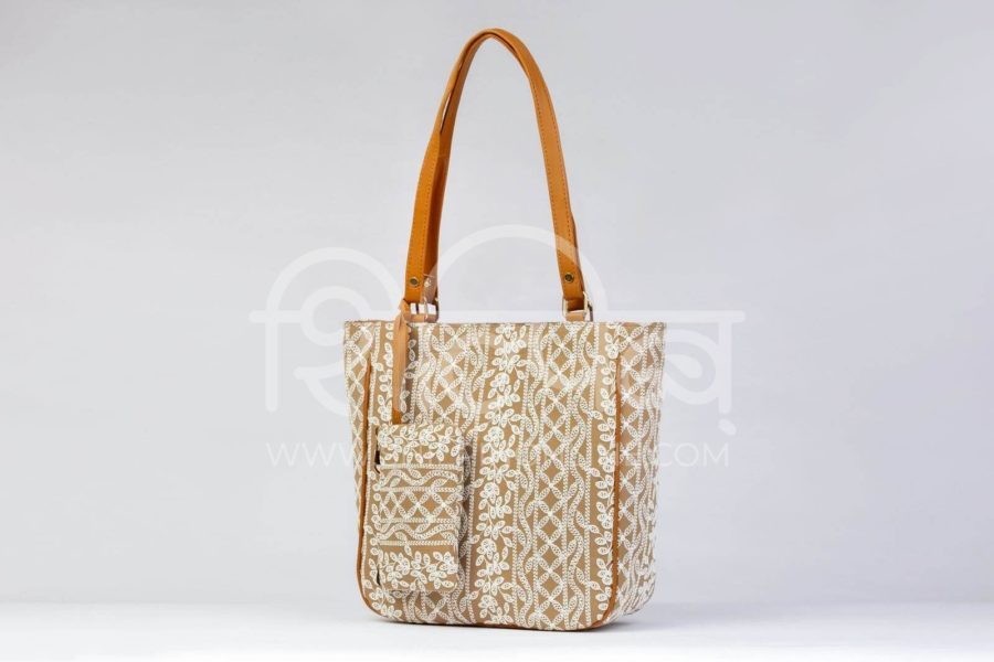 Lucknowi Stich Sepia Carryall Bag2
