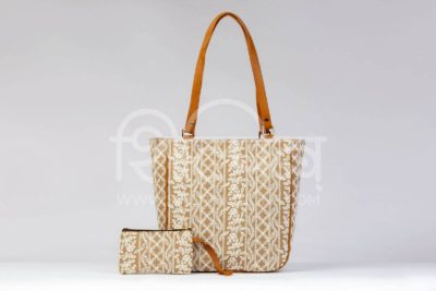 Lucknowi Stich Sepia Carryall Bag