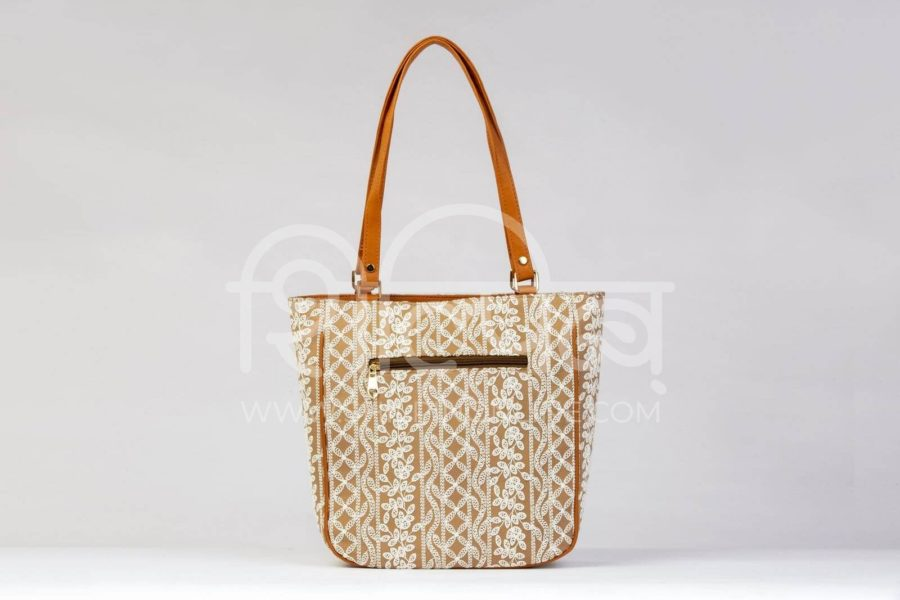 Lucknowi Stich Sepia Carryall Bag4