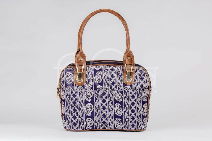 Lucknowi Stitch Navy Office Handbag