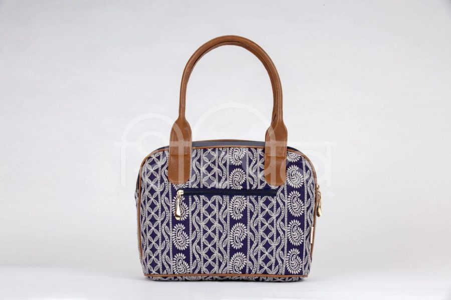 Lucknowi Stitch Navy Office Handbag2